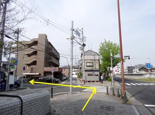 栄方面に進み、椙山女学園南の交差点を左折してください。