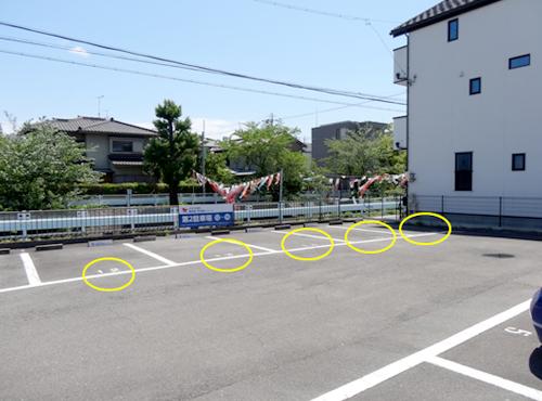 12から16番が駐車場です。